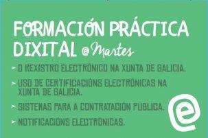 Xornadas de formación práctica dixital (E-martes) sobre o uso de certificados dixitais na Xunta de Galicia